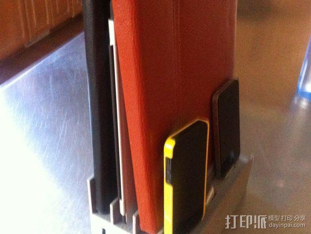 超级苹果USB收纳插座 3D模型  图3