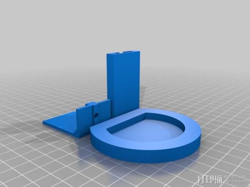 PS3 照相机底座 3D模型  图1