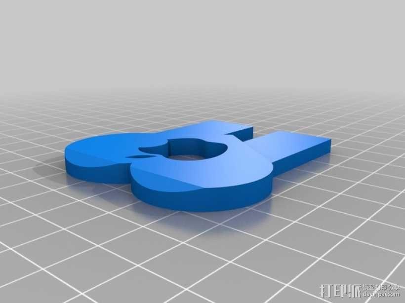 Iphone 4 充电手机座 3D模型  图3
