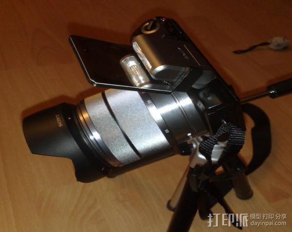 Sony Nex 闪光灯挡板 3D模型  图7