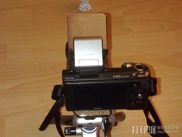 Sony Nex 闪光灯挡板 3D模型  图8