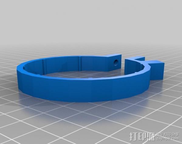 变焦操作杆 3D模型  图1