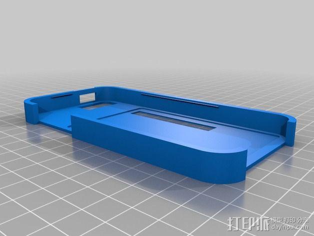 带卡槽的iPhone 5 手机壳 3D模型  图1