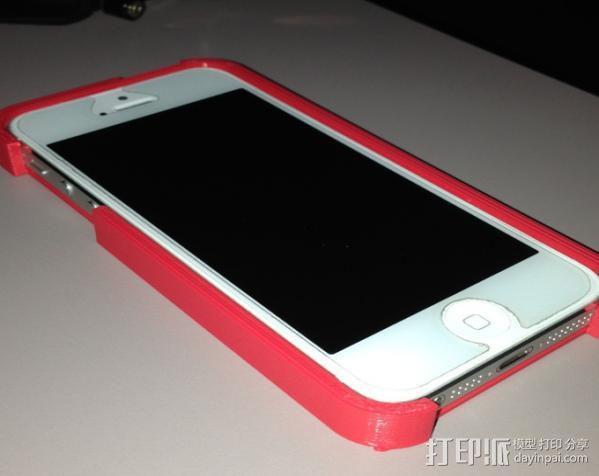 带卡槽的iPhone 5 手机壳 3D模型  图2