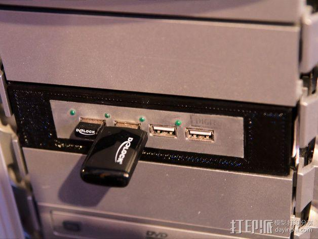 Floppy Drive 3.5适配器 3D模型  图1