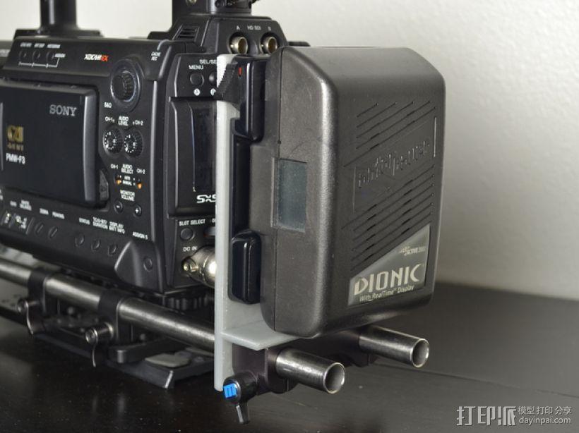 15mm电池架 3D模型  图1