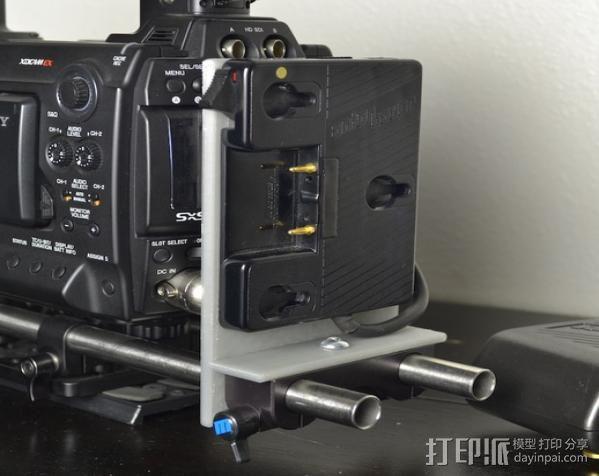 15mm电池架 3D模型  图4