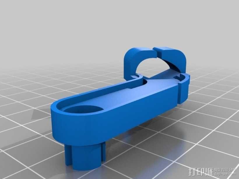 Logitech G930替换支架 3D模型  图4