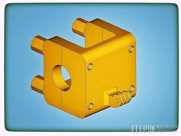 Gopro适配器 3D模型  图2