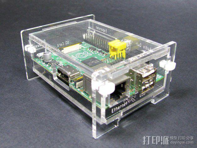 Raspberry Pi适配器 3D模型  图1