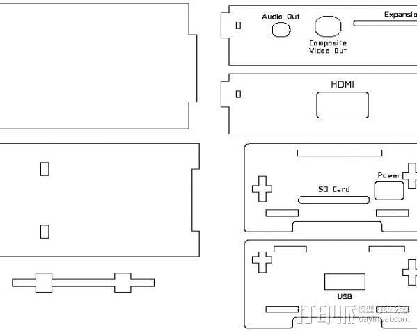 Raspberry Pi适配器 3D模型  图4