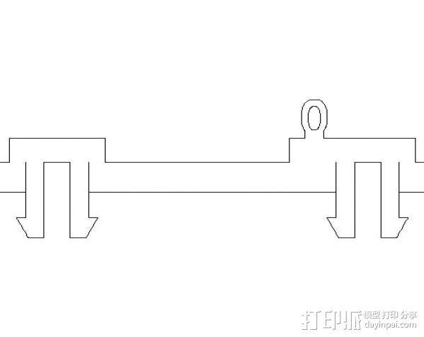 Raspberry Pi适配器 3D模型  图3