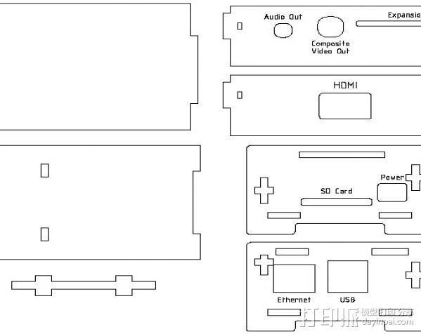 Raspberry Pi适配器 3D模型  图6