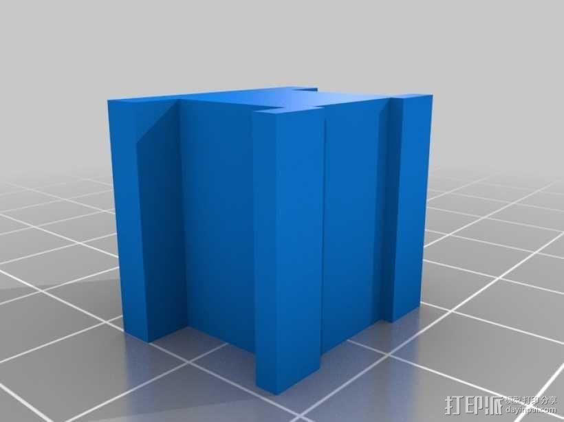 工字型适配器 3D模型  图2