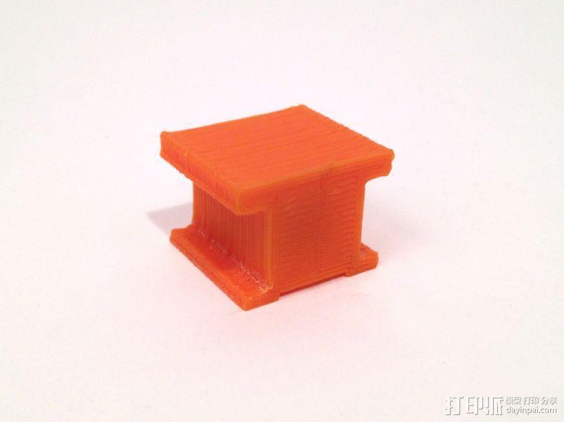 工字型适配器 3D模型  图1