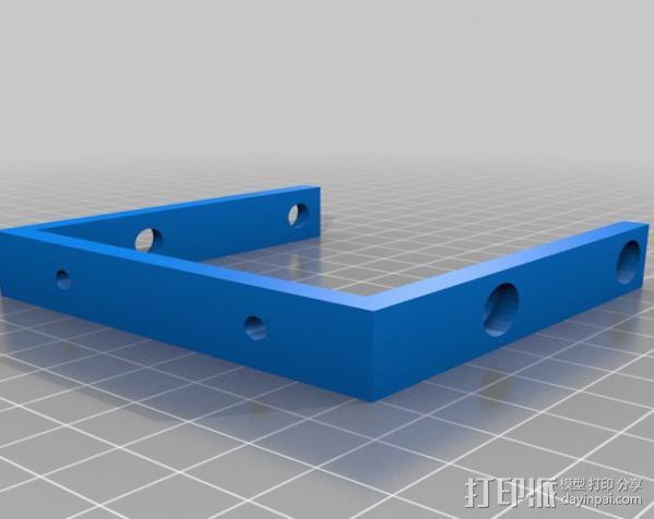 2.5英寸支架 3D模型  图3
