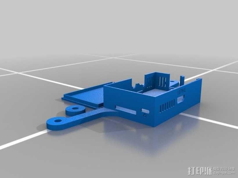 Raspberry Pi 适配器 3D模型  图1