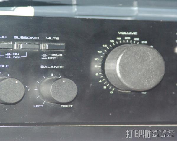 音量旋钮 3D模型  图3