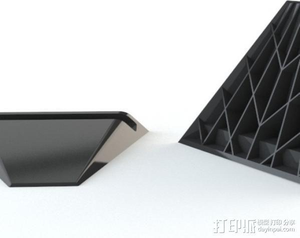 Nexus 7 平板支架 3D模型  图2