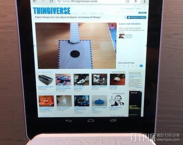 Nexus 7 平板支架 3D模型  图3