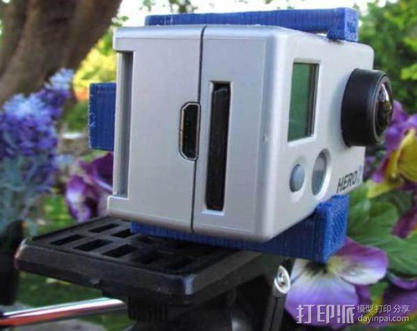 GoPro简易三角支架 3D模型  图3