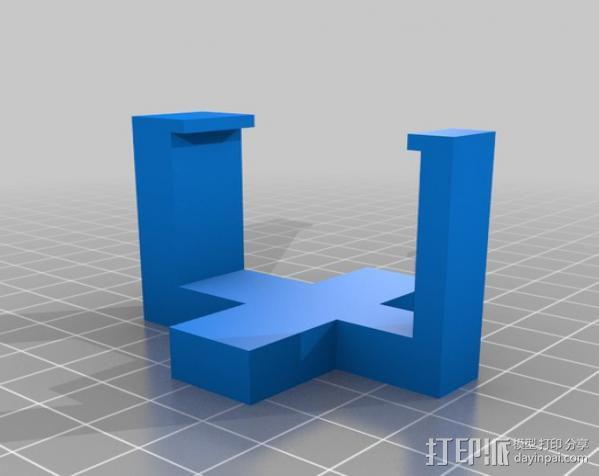 GoPro简易三角支架 3D模型  图1