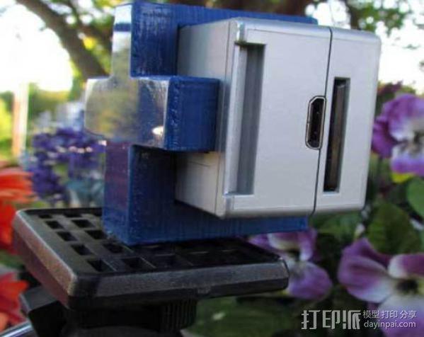 GoPro简易三角支架 3D模型  图4