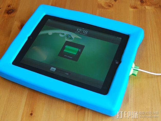 iPad充电器保护插头 3D模型  图2