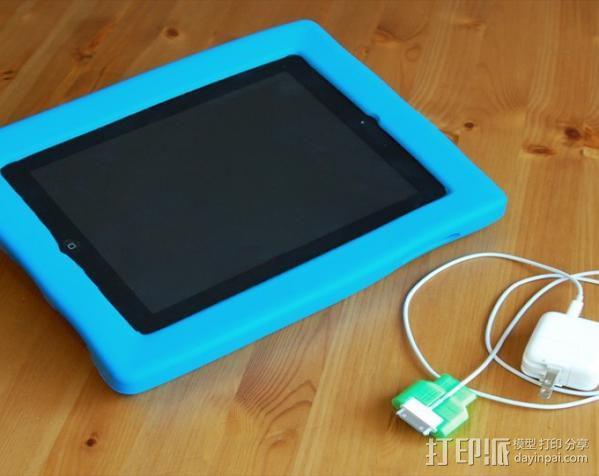 iPad充电器保护插头 3D模型  图4