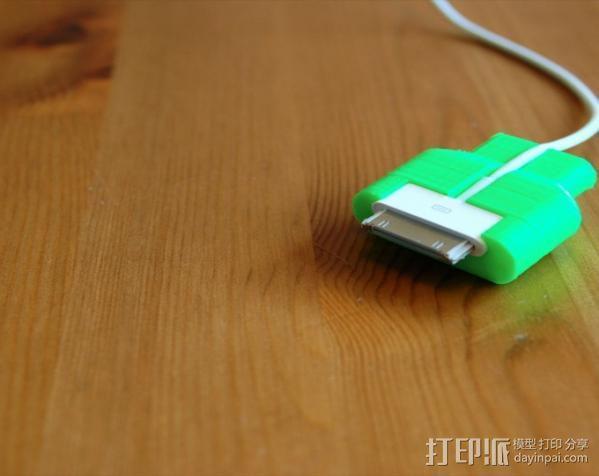 iPad充电器保护插头 3D模型  图3