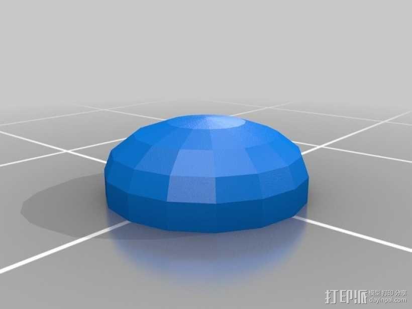 apple底盘垫 3D模型  图1