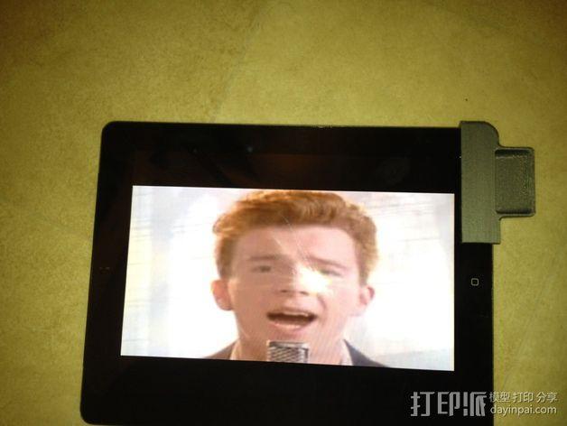 iPad 2 扩音器 3D模型  图1