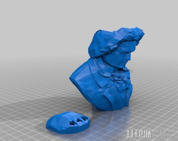 贝多芬摆件 3D模型  图2