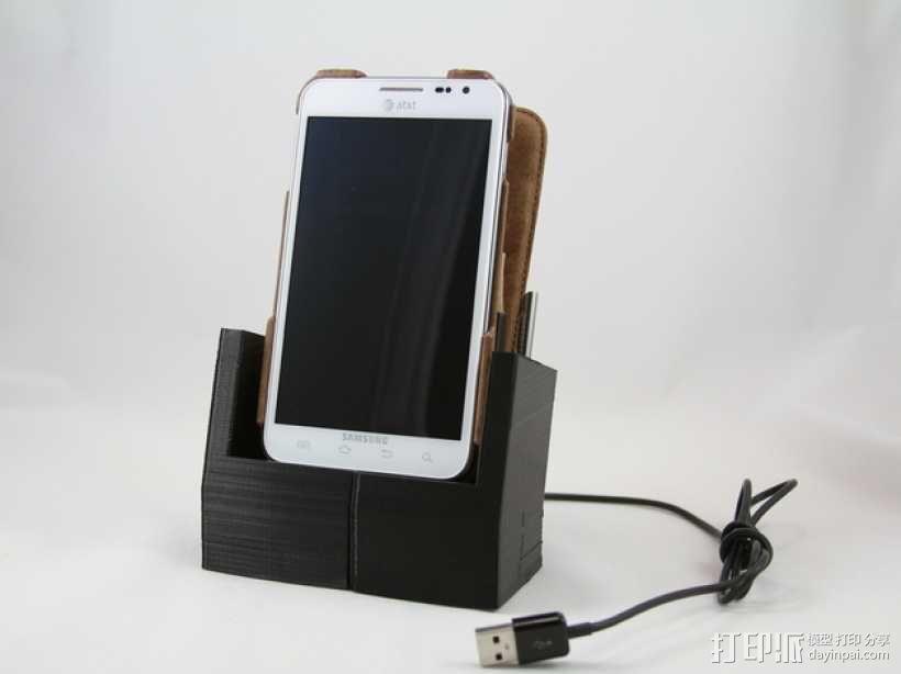 Galaxy Note 手机座 3D模型  图1