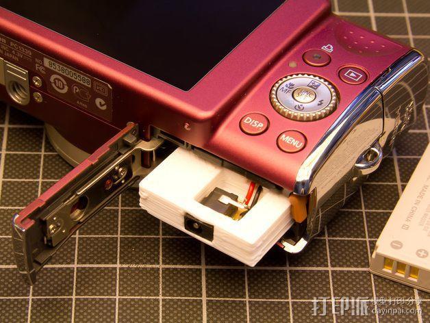 Canon SX200适配器 3D模型  图3