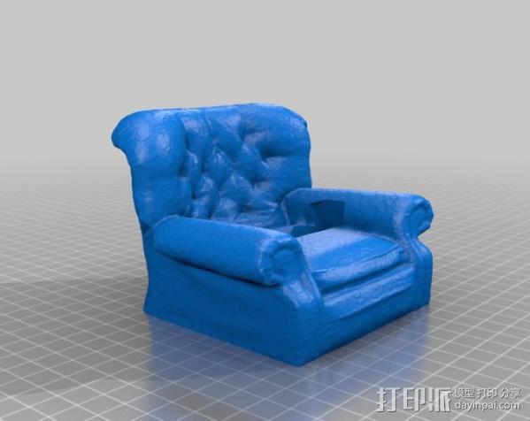 沙发手机座 3D模型  图2