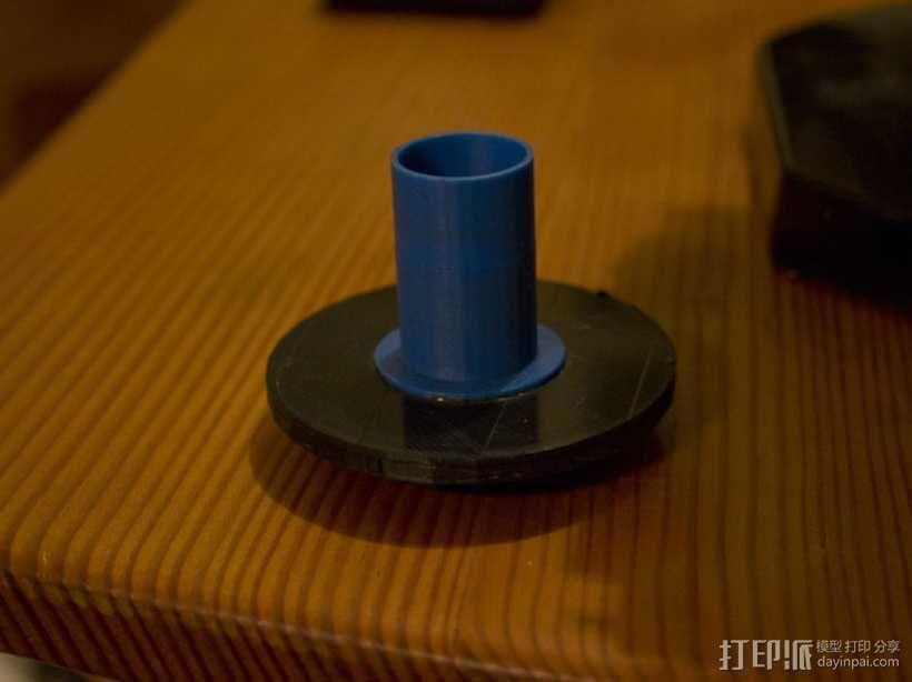 Canon EF 找相机适配器 3D模型  图1