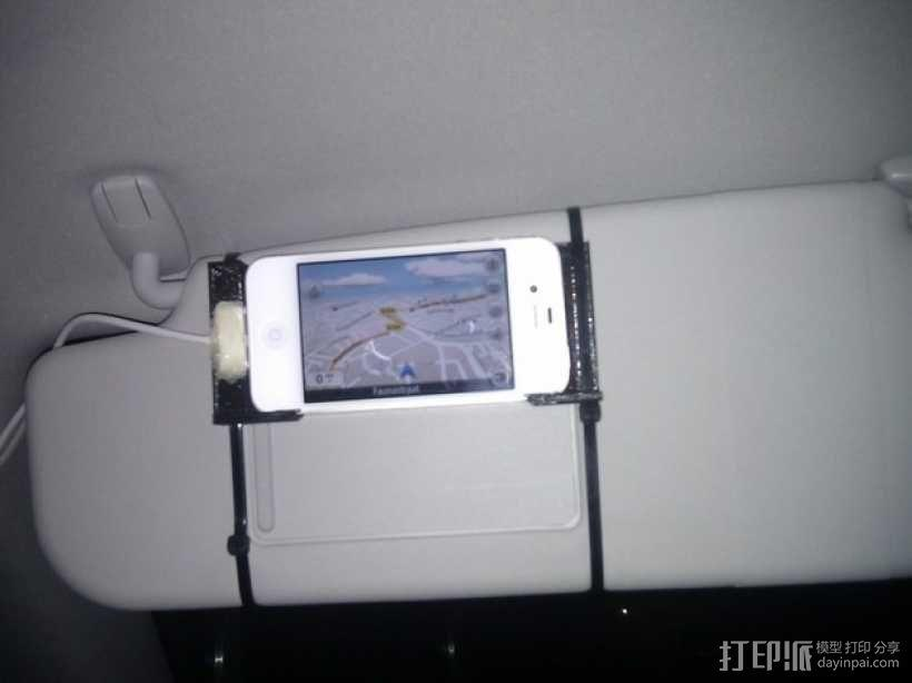 iphone 车载手机座 3D模型  图1