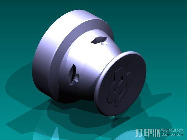 操纵杆适配器 3D模型  图2