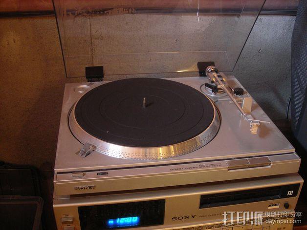 唱片机盖子 3D模型  图5