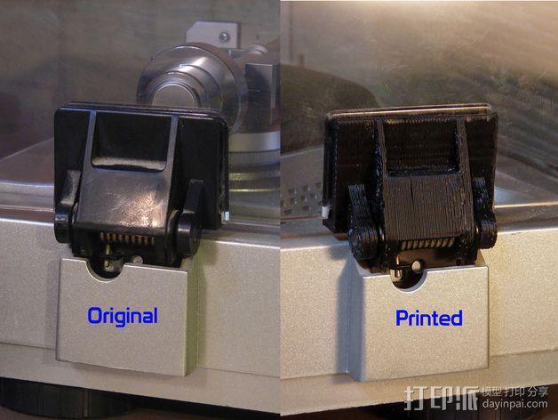 唱片机盖子 3D模型  图6