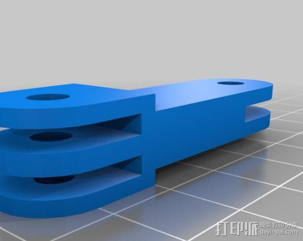 GoProHD适配器 3D模型  图2