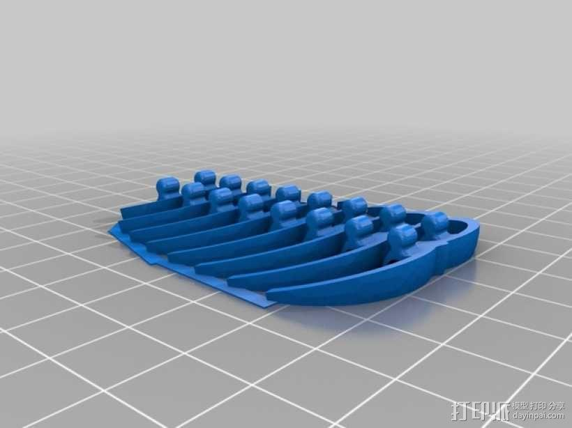 三叶虫发夹 3D模型  图5