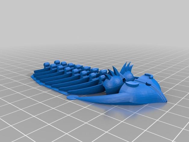 三叶虫发夹 3D模型  图6