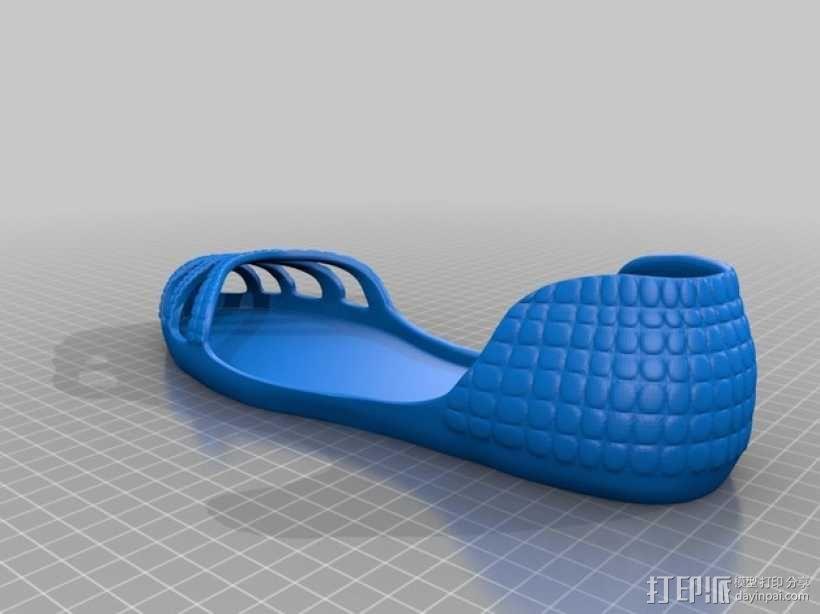 凉鞋 3D模型  图2