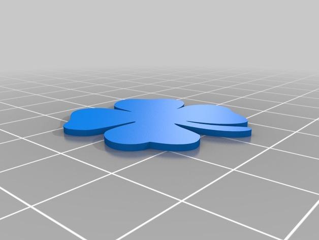 四叶草卡扣 3D模型  图4