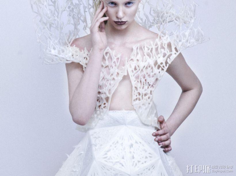 鬃丝连衣裙 3D模型  图1