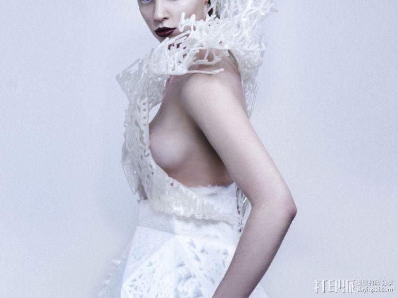 鬃丝连衣裙 3D模型  图3