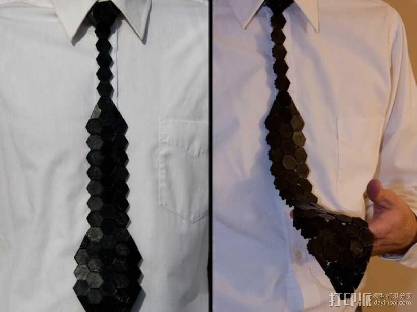 Hex领带 3D模型  图1