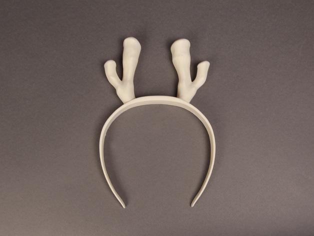 驯鹿帽子 3D模型  图1